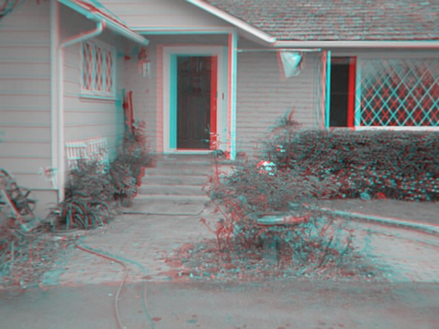 3d Image (Anaglyph) Of Our House